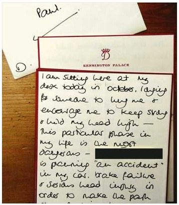 princess diana car crash photos. Diana Letter