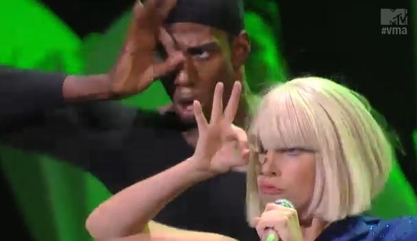 Lady Gaga 666 hand sign